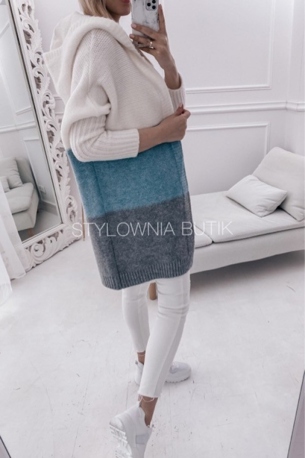 SWETER NARZUTKA POLA TRICOLOR MINT 1